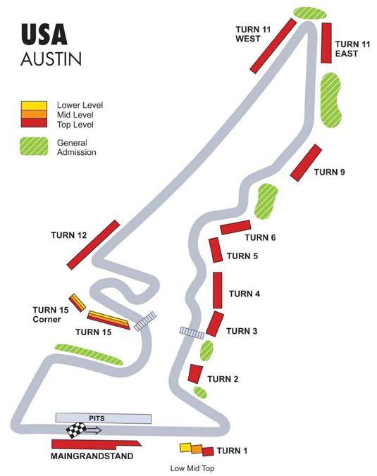 F1美国大奖赛奥斯丁赛道