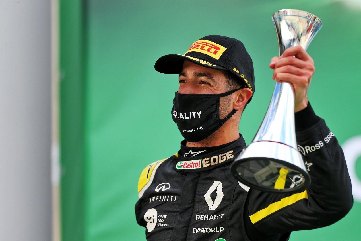 F1德国站雷诺F1车队重返领奖台 里卡多勇夺季军