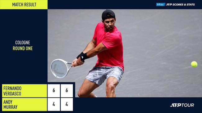 穆雷在ATP德国科隆赛首轮出局 遭巡回赛三连败
