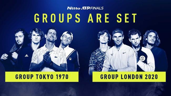 ATP年终总决赛抽签公布,纳达尔与德约分别领衔两个小组