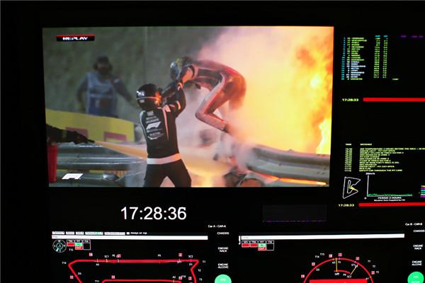 F1巴林站发生重大事故 ,车手格罗斯让火海逃生