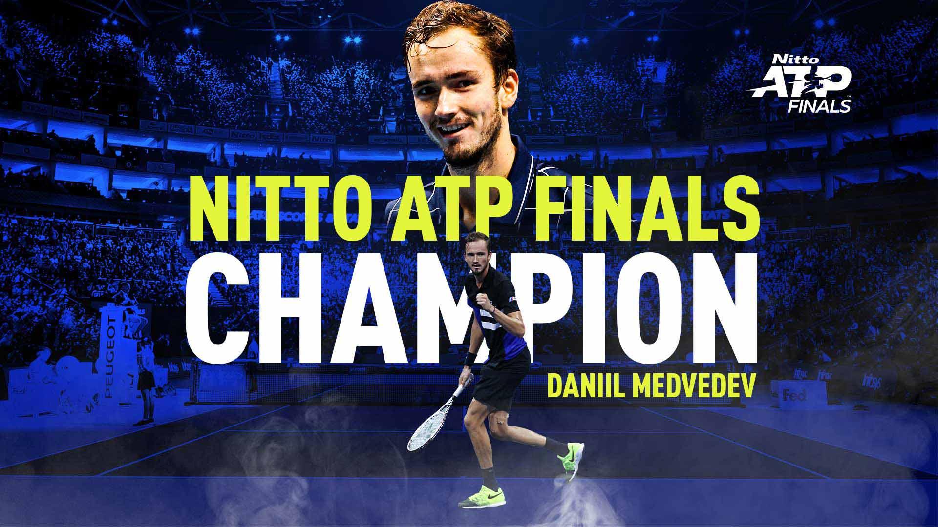 ATP年终总决赛梅德韦杰夫夺冠,击败世界前三创造历史