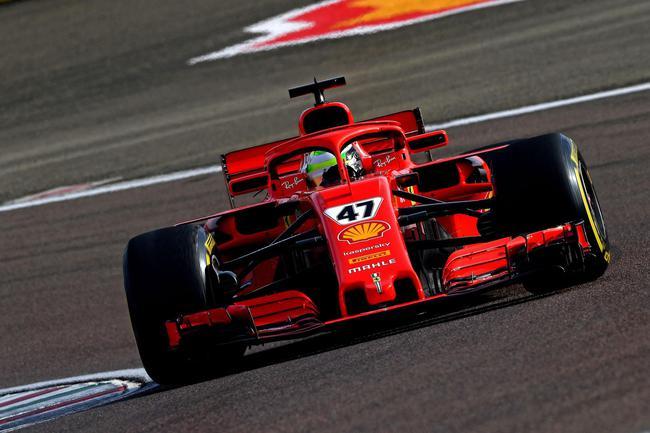 法拉利F1赛车测试 :米克-舒马赫顺利完成