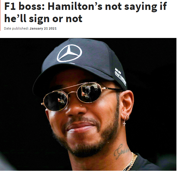 F1主席: 希望尽快解决汉密尔顿与梅奔的合同