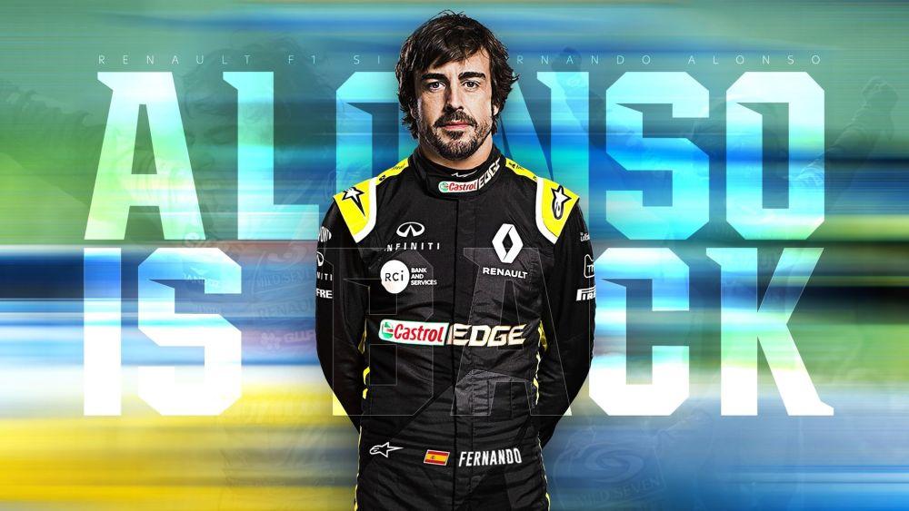 阿隆索回歸面臨最大的挑戰:適應當今的F1引擎