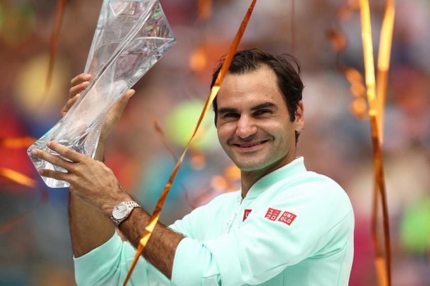 费德勒退本赛季的首个ATP大师系列赛,将损失1000积分