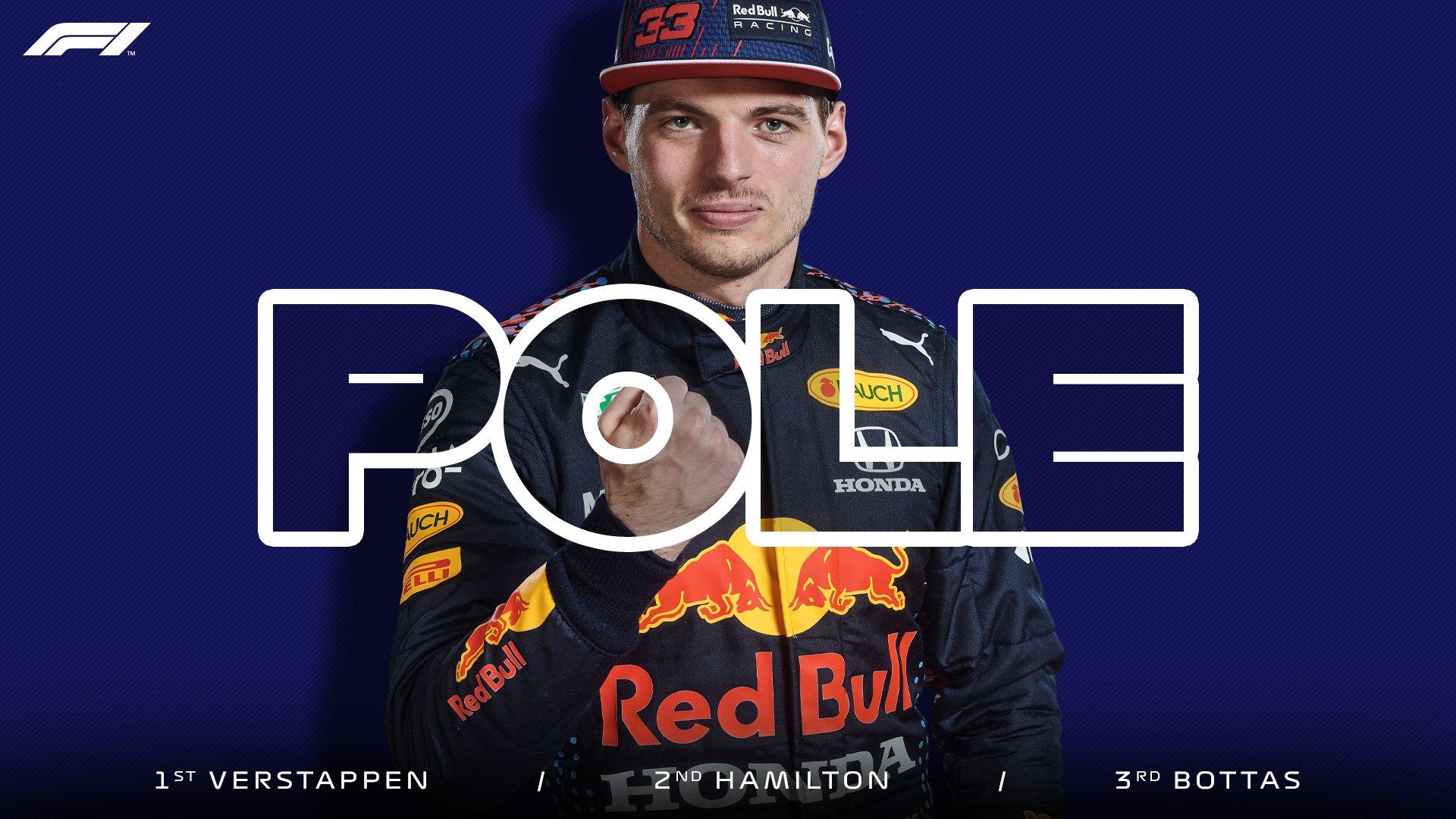 F1巴林站排位赛:维斯塔潘夺新赛季首杆
