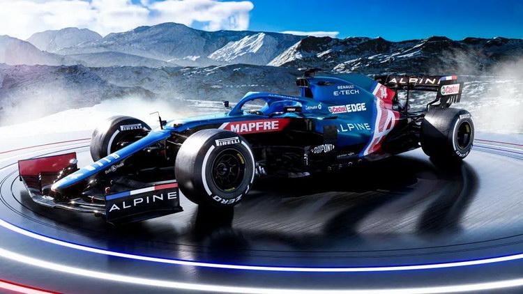 Alpine新赛车A521揭幕,阿隆索缺席