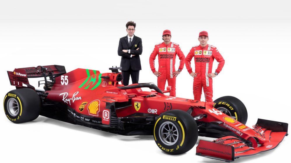 2021賽季法拉利新賽車發布,外觀設計新穎