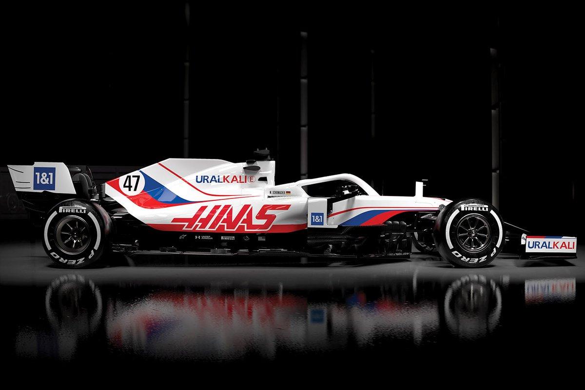 哈斯車隊發布新賽車,換上新冠名商的白色涂裝