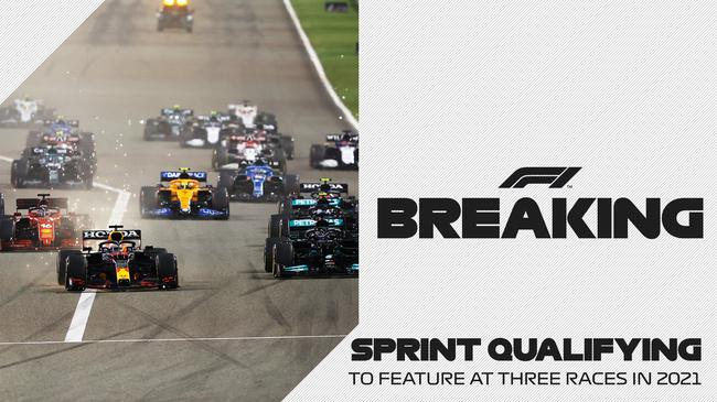 F1大奖赛引入排位冲刺赛,2021赛季将有3场比赛