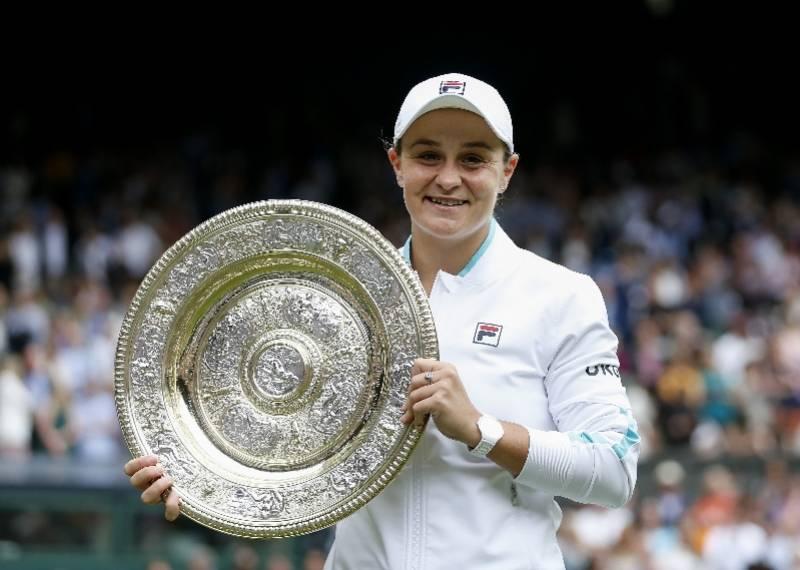 2021温网决赛:巴蒂夺得女单冠军