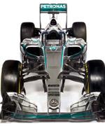 2015F1赛季新车:梅赛德斯W06正视图
