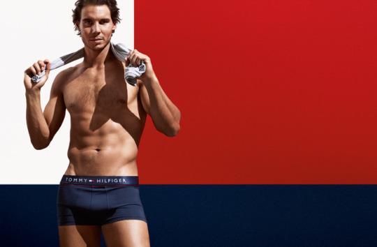 纳达尔拍摄内裤广告