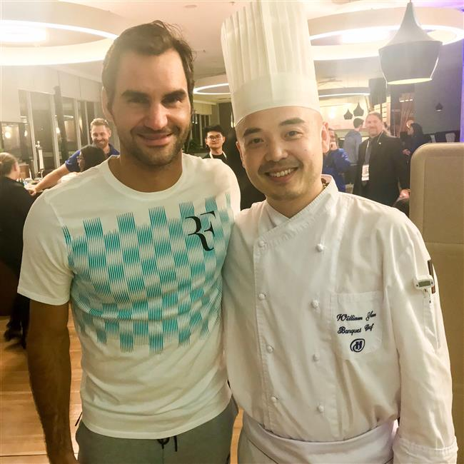 Federer's favorite food? Just ask the chef!