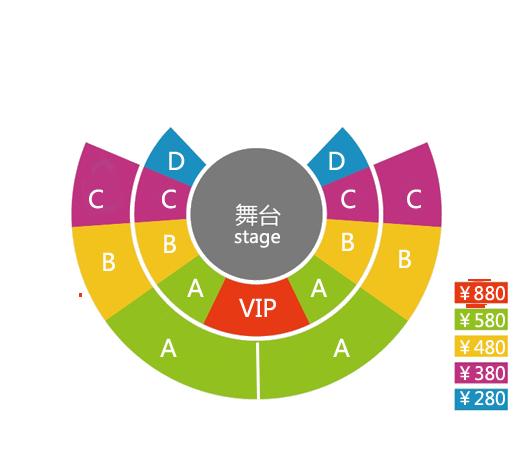 上海马戏城 ERA时空之旅门票价格座位图