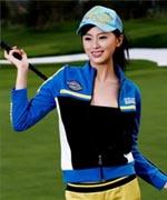 汇丰高尔夫现场的高尔夫美女高清图片