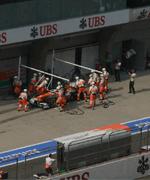 2013F1中国大奖赛正赛比赛现场花絮