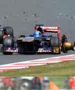 2013F1赛季爆胎事故高清图片